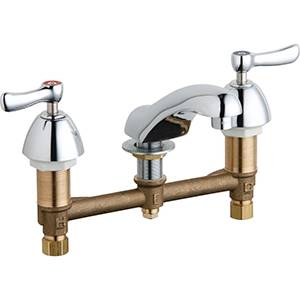 Chicago Faucets - 404-VCP - Widespread Lavatory Faucet