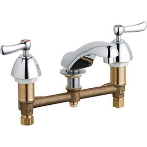 Chicago Faucets - 404-VE2805ABCP - Widespread Lavatory Faucet