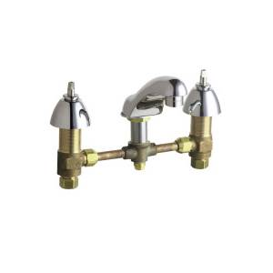Chicago Faucets - 404-VLESSHDLCP - Widespread Lavatory Faucet
