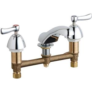 Chicago Faucets - 404-XKABCP - Widespread Lavatory Faucet