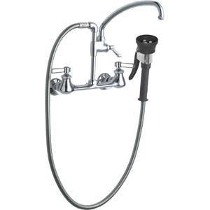 Chicago Faucets 509-GCTFCP - Pot Filler with Triple Force Pre-Rinse Spray Valve