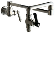 Chicago Faucet - 515-241NHF - Wall Mounted Pot Filler Faucet, Brushed Nickel Finish