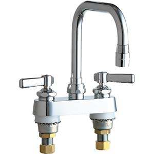 Chicago Faucets - 526-E3ABCP - 4-inch Deck Mounted Sink Faucet
