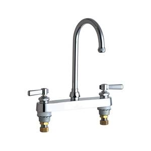 Chicago Faucets - 527-GN2AE1CP - 8-inch Deck Mounted Service Sink Faucet