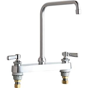 Chicago Faucets - 527-HA8XKCP - 8-inch Deck Mounted Sink Faucet