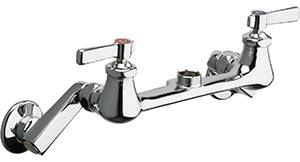 Chicago Faucets - 540-LDRLESSSPTXKCP - Wall Mounted Faucet