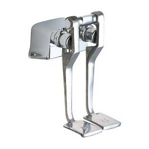 Chicago Faucets 625-LPRCF - Hot and Cold Water Pedal Box with Long Pedals, Rough Chrome