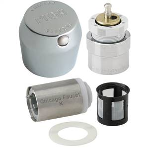 Chicago Faucets - 665-RKPABCP - MVP™ Metering Push Button Metering Retrofit Kit. This kit includes metering cartridge and handle for a complete fix.