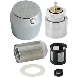 Chicago Faucets - 665-RKPCP - MVP™ Metering Push Button Metering Retrofit Kit. This kit includes metering cartridge and handle for a complete fix.