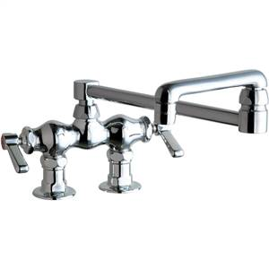 Chicago Faucets - 772-DJ18ABCP - 3-3/8-inch Center Deck Mounted Sink Faucet