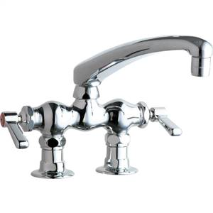 Chicago Faucets - 772-L8CP - 3-3/8-inch Center Deck Mounted Sink Faucet