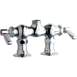 Chicago Faucets - 772-LESAB - 3-3/8-inch Center Deck Mounted Sink Faucet, No Spout
