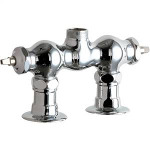 Chicago Faucets - 772-LESHAB - 3-3/8 inch Center Deck Mounted Sink Faucet, No Spout - No Handles