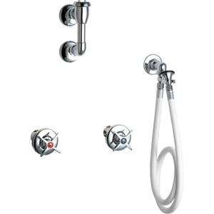 Chicago Faucets - 778-VBGCP - Wall Mounted Spray Fitting