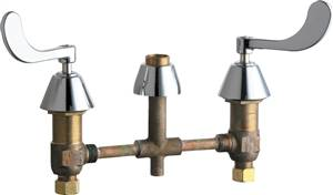 Chicago Faucets - 785-LESSSPTXKCP - Widespread Lavatory Faucet