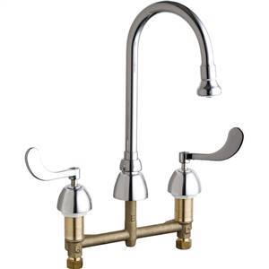 Chicago Faucets - 786-245CP - Widespread Lavatory Faucet