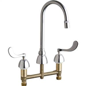 Chicago Faucets - 786-E29CP - Widespread Lavatory Faucet