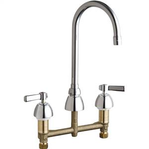 Chicago Faucets - 786-E3-369ABCP - Widespread Lavatory Faucet