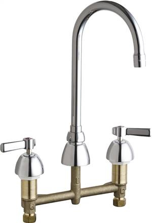 Chicago Faucets - 786-E3-369XKABCP - Widespread Lavatory Faucet