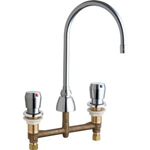 Chicago Faucets - 786-E3-665ABCP - Widespread Lavatory Faucet Metering
