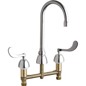 Chicago Faucets - 786-E3VPAABCP - Widespread Lavatory Faucet