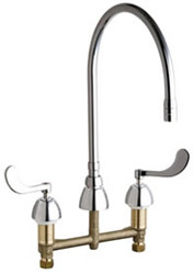 Chicago Faucets - 786-GN10AE3SWGABCP - Widespread Lavatory Faucet