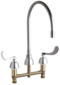 Chicago Faucets - 786-GN10AE3SWGCP - Widespread Lavatory Faucet