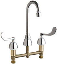 Chicago Faucets 786-GN1AE29VPABCP - CONCEALED KITCHEN SINK FAUCET