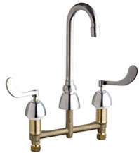 Chicago Faucets 786-GN1AE3-245CP - CONCEALED KITCHEN SINK FAUCET