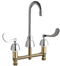 Chicago Faucets 786-GN1AE3XKCP - CONCEALED KITCHEN SINK FAUCET