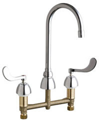 Chicago Faucets - 786-GN2AFCE3ABCP - Widespread Lavatory Faucet