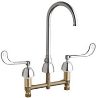 Chicago Faucets - 786-GN2FC319ABCP - Widespread Lavatory Faucet