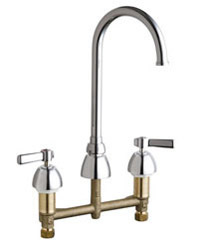 Chicago Faucets - 786-GN2FC369ABCP - Widespread Lavatory Faucet