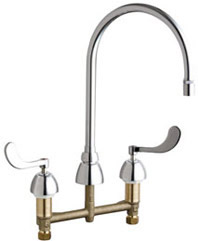 Chicago Faucets - 786-GN8AE29XKABCP - Widespread Lavatory Faucet