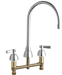 Chicago Faucets - 786-GN8AE3-369XKAB - Widespread Lavatory Faucet