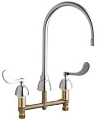 Chicago Faucets - 786-GN8AE3XKABCP - Widespread Lavatory Faucet
