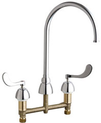 Chicago Faucets - 786-GN8FCABCP - Widespread Lavatory Faucet