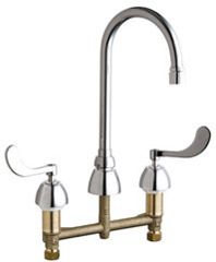 Chicago Faucets 786-RSGN2AE35VP317ABCP - CONCEALED KITCHEN SINK FAUCET