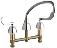 Chicago Faucets 786-RSL9E35VP317XKABCP - CONCEALED KITCHEN SINK FAUCET