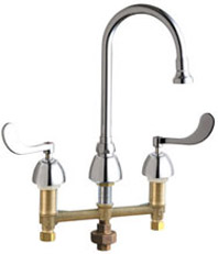 Chicago Faucets - 786-TWABCP - Widespread Lavatory Faucet with Third Water Inlet