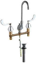 Chicago Faucets - 794-317XKABCP - Widespread Lavatory Faucet
