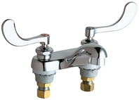 Chicago Faucets - 802-VE2805-317CP - 4-inch Center Lavatory Faucet