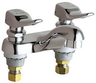 Chicago Faucets - 802-VE2805-336CP - 4-inch Center Lavatory Faucet