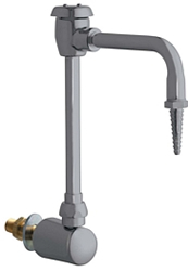 Chicago Faucets 980-WSGN2BVBE7SAM - Wall Mount Remote Control Turret and Spout with Vacuum Breaker
