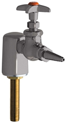 Chicago Faucets 980-WSV937CHAGVSAM - Turret with Single Needle Valve with Chemical Resistant Satin Antimicrobial Finish