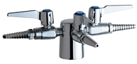 Chicago Faucets 983-909AGVCP - Turret with Three Ball Valves @ 90 Degrees