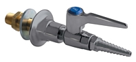 Chicago Faucets 986-WSV909AGVSAM - Wall Flange with Single Ball Valve with Chemical Resistant Satin Antimicrobial Finish