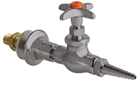 Chicago Faucets 986-WSV937CHAGVSAM - Wall Flange with Needle Valve with Chemical Resistant Satin Antimicrobial Finish
