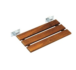 Alsons 1880A3110BX Tip-Up Bath Seat w/ Teak Wood Slats