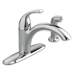 American Standard 4433.001 - Quince 1-Handle Kitchen Faucet with Separate Side Spray